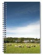 Landscape Near East Prawle In England Spiral Notebook