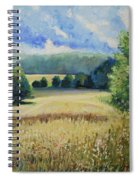 Landscape Near Russian Border Spiral Notebook