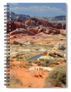 Landscape Of Valley Of Fire State Park Spiral Notebook