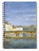 Landscape Oil On Canvas Spiral Notebook