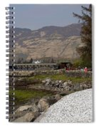 Landscape Outside The Entrance To The Eilean Doonan Castle In Sc Spiral Notebook