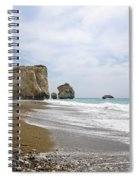 Seascape  Paphos Cyprus Spiral Notebook