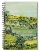 Landscape Pen & Ink With Wc On Paper Spiral Notebook