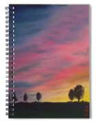 Landscape Sunset In Memenbetsu Cho Japan Spiral Notebook