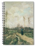 Landscape With A Church And Houses Spiral Notebook