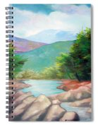Landscape With A Creek Spiral Notebook