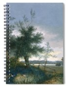 Landscape With A Fox Chasing Geese Spiral Notebook