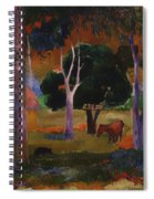 Landscape With A Pig And Horse Spiral Notebook
