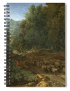 Landscape With A Shepherd And His Flock Spiral Notebook