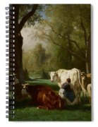 Landscape With Cattle And Sheep Spiral Notebook