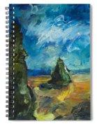 Emerald Spires Spiral Notebook