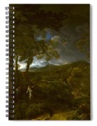 Landscape With Elijah And The Angel Spiral Notebook