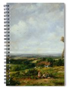Landscape With Figures By A Windmill Spiral Notebook
