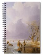 Landscape With Frozen Canal Spiral Notebook