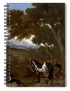 Landscape With Hermit Preaching To Animals Spiral Notebook