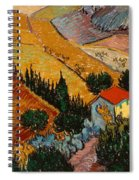 Landscape With House And Ploughman Spiral Notebook