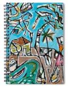 Landscape With Lavadeira Spiral Notebook