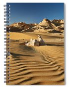 Landscape With Mountains In Egyptian Desert Spiral Notebook