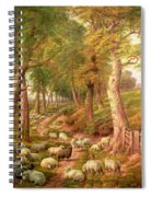 Landscape With Sheep Spiral Notebook