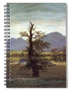 Landscape With Solitary Tree Spiral Notebook