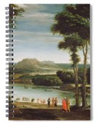 Landscape With St. John Baptising Spiral Notebook
