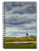 Landscape With The Dezwaan Dutch Windmill On Windmill Island In Holland Michigan Spiral Notebook