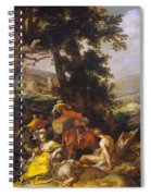 Landscape With The Ministry Of John The Baptist Spiral Notebook