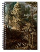 Landscape With The Temptation Of Saint Anthony Spiral Notebook