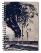Landscape With Three Trees Spiral Notebook