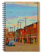 Landsdowne Condos 5th Avenue The Glebe Ottawa Street Scene Paintings Carole Spandau Canadian Art Spiral Notebook