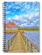 Landskrona Sea Shore Painting Spiral Notebook