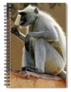 Langur With Kulfi Spiral Notebook