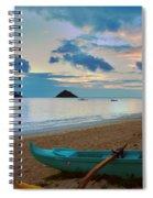 Lanikai Beach Sunrise 6 - Kailua Oahu Hawaii Spiral Notebook