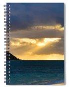 Lanikai Beach Sunrise Panorama 2 - Kailua Oahu Hawaii Spiral Notebook