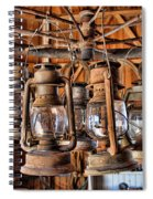 Lantern Chandelier Spiral Notebook