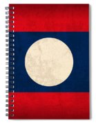 Laos Flag Vintage Distressed Finish Spiral Notebook