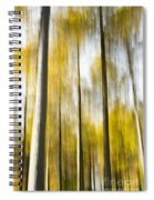 Larch In Abstract Spiral Notebook