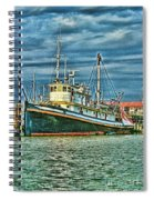 Large Fishing Boat Hdr Spiral Notebook