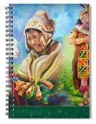 Large Mural In Cusco Peru Part 4 Spiral Notebook