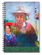Large Mural In Cusco Peru Part 6 Spiral Notebook
