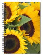 Large Sunflowers Spiral Notebook