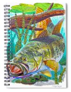 Largemouth Bass Spiral Notebook