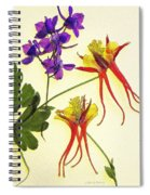 Larkspur And Columbine Spiral Notebook