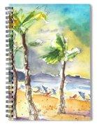 Las Canteras Beach In Las Palmas De Gran Canaria Spiral Notebook
