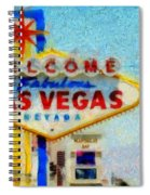 Las Vegas Sign Spiral Notebook