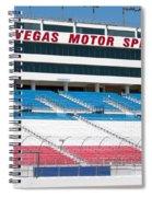 Las Vegas Speedway Grandstands Spiral Notebook