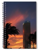Las Vegas Sunset With Trump Tower Spiral Notebook