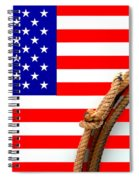 Lasso And American Flag Spiral Notebook