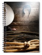 Lasso In Old Barn Spiral Notebook