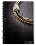 Lasso On Leather Spiral Notebook
